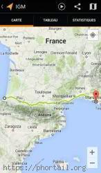 Carte GPS Biarritz Marseille