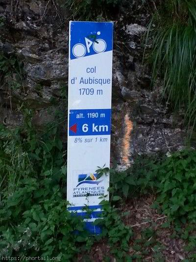 Panneau du Col d'Aubisque