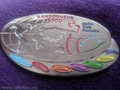 Médaille Randonneur 5000