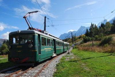 tramway du Mont Blanc au Col de Voza
