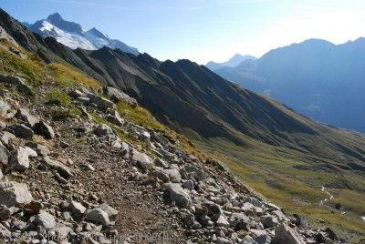 Sous le col des Tufs Tour du Mont Blanc