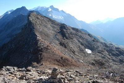 Tête nord des Fours Tour du Mont Blanc