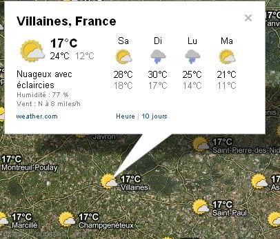 Météo Villaines-la-Juhel
