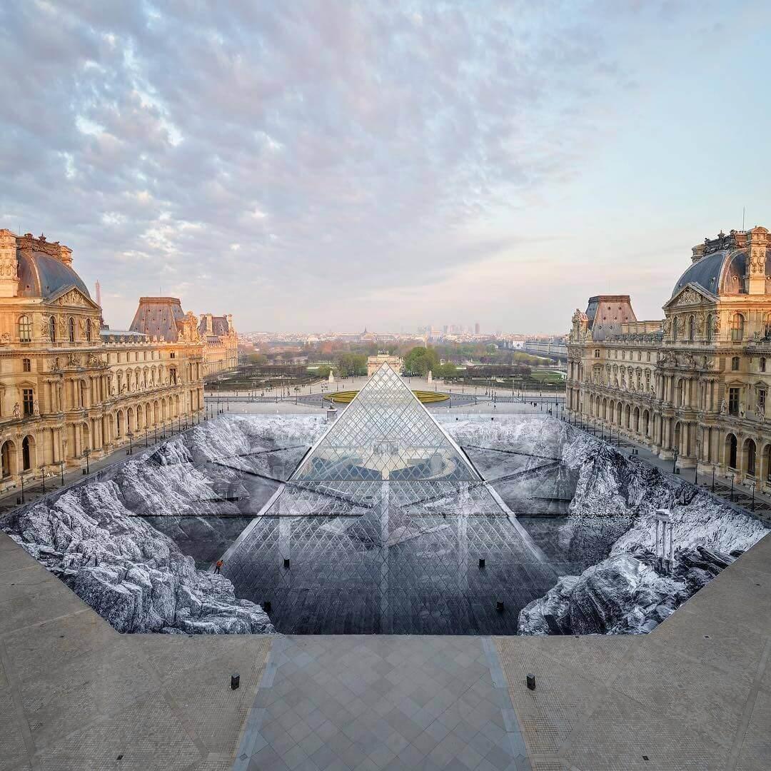illusion d'optique Louvre JR