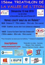 flyer Triathlon de la vallée de l'Iton