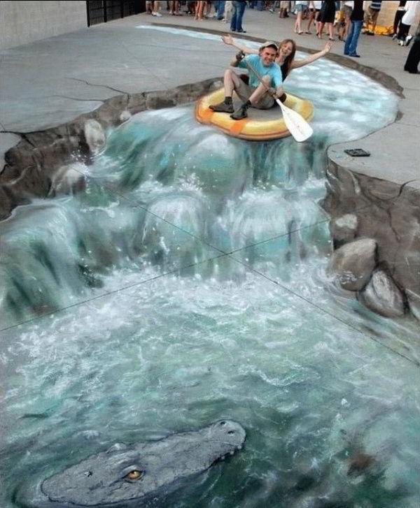 Trompe-l\'oeil : Le Rafting Blague du Jour
